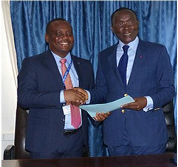 photo des représentants des deux institutions